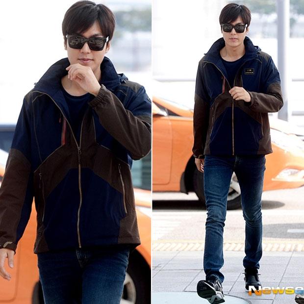 Lee Min Ho đẹp rạng ngời với áo gió mùa đông